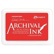 "Ranger AID-41399 Wendy Vecchi Designer Series Carnation Red Archival Ink Pad, 4"" x 2.75"""