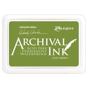 "Ranger AID-41436 Wendy Vecchi Designer Series Leaf Green Archival Ink Pad, 4"" x 2.75"""