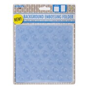 Ecstasy Crafts Nellie's Choice Background Embossing Folder, Baby
