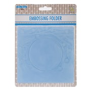 Ecstasy Crafts Nellie's Choice Spring In The Air Embossing Folder, Square Frame W/Round Opening