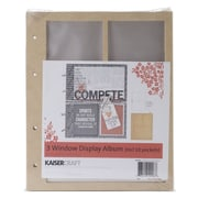 Kaisercraft Beyond The Page MDF 3 Window Display Album With 10 Pockets, 6 3/4 x 8 1/2 x 1/2