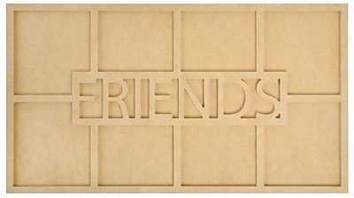 """""Kaisercraft Beyond The Page MDF Friends Word Frame With 8 Openings, 19 3/4"""""""" x 7 3/4"""""""" x 1/2"""""""""""""" 1112638"
