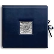 "Pioneer Sewn Leatherette D-Ring Scrapbook Box, 13"" x 14.5"", Navy Blue"