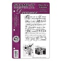 Crafter's Companion 6 1/2in. x 8 1/2in. Stamp-It Dreamer Cling Stamp Set, Scattered Thoughts