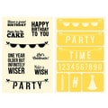 Hampton Art™ 6in. x 4in. Jillibean Soup Stamp & Stencil Set, Birthday