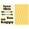 Hampton Art™ 6in. x 4in. Jillibean Soup Stamp & Stencil Set, Love This