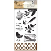"Hampton Art™ 6"" x 4"" Stamp & Stencil Set, Birds"