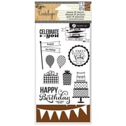 "Hampton Art™ 6"" x 4"" Stamp & Stencil Set, Birthday"