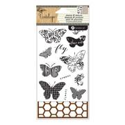"Hampton Art™ 6"" x 4"" Stamp & Stencil Set, Butterfiles"