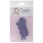 "Magnolia Tilda & Edwin's 6 1/2"" x 3 1/2"" Animals Cling Stamp, Tilda As Animal Keeper"