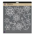 Prima Marketing™ 12in. x 12in. Designer Stencil, Anchor & Helm