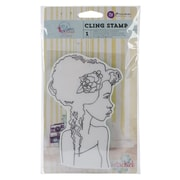 "Prima Marketing™ 4"" x 6"" Bloom Cling Rubber Stamp, Girl Hope"