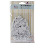 "Prima Marketing™ 4"" x 6"" Bloom Cling Rubber Stamp, Girl Karlie"