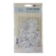 "Prima Marketing™ 4"" x 6"" Bloom Cling Rubber Stamp, Girl Paige"