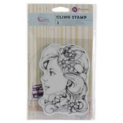 "Prima Marketing™ 4"" x 6"" Bloom Cling Rubber Stamp, Girl Sophie"