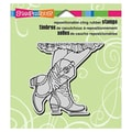 Stampendous® 3 1/2in. x 4in. Cling Rubber Stamp, Cowgirl Boots