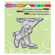 "Stampendous® 3 1/2"" x 4"" Cling Rubber Stamp, Cowgirl Boots"