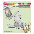 Stampendous® 3 1/2in. x 4in. House Mouse Cling Rubber Stamp, School Supplies