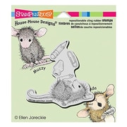 "Stampendous® 3 1/2"" x 4"" House Mouse Cling Rubber Stamp, School Supplies"