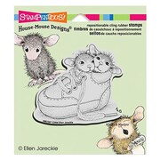 "Stampendous® 3 1/2"" x 4"" House Mouse Cling Rubber Stamp, Shoe Babies"