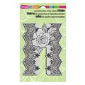 Stampendous® 4in. x 6in. Cling Rubber Stamp, Lace Rose