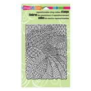 "Stampendous® 4"" x 6"" Cling Rubber Stamp, Penpattern Light"