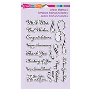 "Stampendous® 4"" x 6"" Perfectly Clear Stamp, Loving Messages"