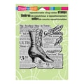 Stampendous® 5 1/2in. x 4 1/2in. Cling Rubber Stamp, Boot Shoe Elements