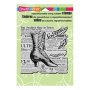 "Stampendous® 5 1/2"" x 4 1/2"" Cling Rubber Stamp, Boot Shoe Elements"