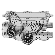 "Stampendous® 5 1/2"" x 4 1/2"" Cling Rubber Stamp, Butterfly Tune"
