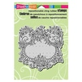 Stampendous® 5 1/2in. x 4 1/2in. Cling Rubber Stamp, Ribbon Rose Frame