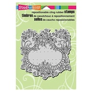 "Stampendous® 5 1/2"" x 4 1/2"" Cling Rubber Stamp, Ribbon Rose Frame"