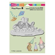 "Stampendous® 5 1/2"" x 4 1/2"" Happyhoppers Cling Rubber Stamp, Inner Tube Nap"