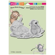 """Stampendous® 5 1/2"""" x 4 1/2"""" House Mouse Cling Rubber Stamp, Cupcake Belly"""
