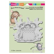 "Stampendous® 5 1/2"" x 4 1/2"" House Mouse Cling Rubber Stamps"
