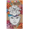Stampendous® 7in. x 5in. Jumbo Cling Rubber Stamp, Blossom Beauty