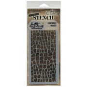 """Stampers Anonymous Tim Holtz® 4 1/8"""" x 8 1/2"""" Layered Stencil, Crocodile"""