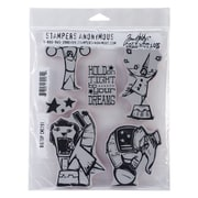 "Stampers Anonymous Tim Holtz® 7"" x 8 1/2"" Cling Rubber Stamp Set, Big Top"