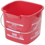 Carlisle 1182805 3 qt. ABS Square Pail, Red