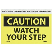 Caution, Watch Your Step, 3X5, Adhesive Vinyl, 5/Pk