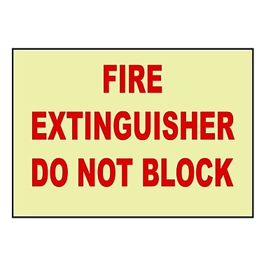 Fire, Fire Extinguisher Do Not Block, 7