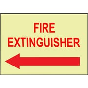 Fire, Fire Extinguisher, Left Arrow, 10X14, Adhesive Vinylglow