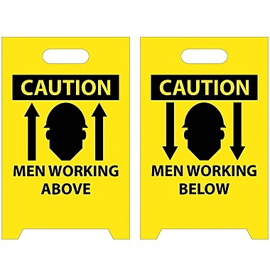 Floor Sign, Dbl Side, Caution Men Working Above Caution Men Working Below, 20