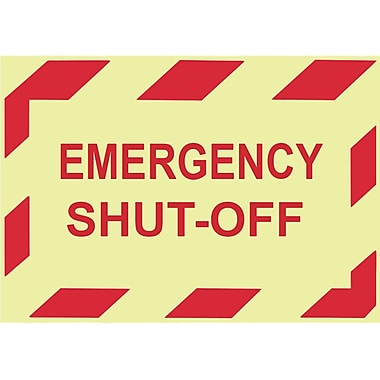 Glow Labels-Emergency Shut-Off, 3