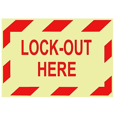 Glow Labels-Lock-Out Here, 3