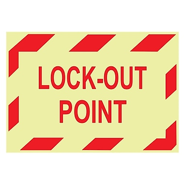 Glow Labels-Lock-Out Point, 3