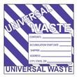 Hazard Labels, Hazardous Materials Shipping, Universal Waste Stripes, 6X6, Adhesive Paper, 500/Roll