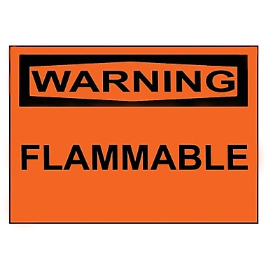 Warning, Flammable, 3