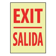 Exit (Bilingual), 20X14, Adhesive Glow
