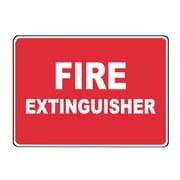 Fire Extinguisher, 10X14, Adhesive Glow